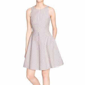 & Other Stories x Rachel Antonoff Red & Blue Striped Seersucker A-Line Dress 10
